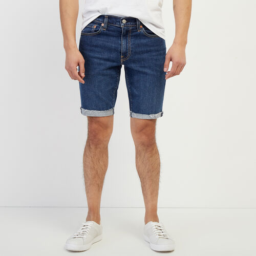 Roots-Men New Arrivals-Levi's 511 Slim Cutoff Short-Denim Blue-A