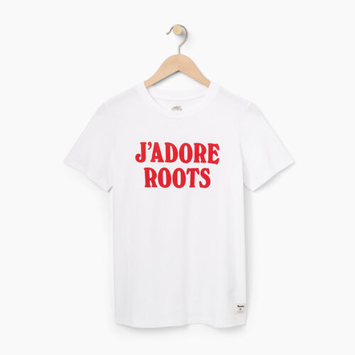 Roots-Black Friday Deals Tops-Womens Feminine T-shirt-White-A