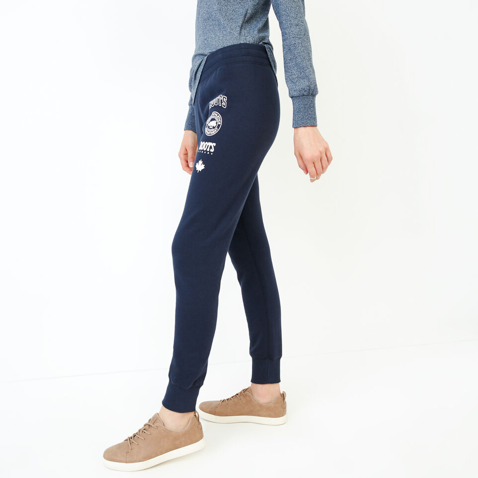 Roots-Women Our Favourite New Arrivals-Stamps Slim Sweatpant-Navy Blazer-C