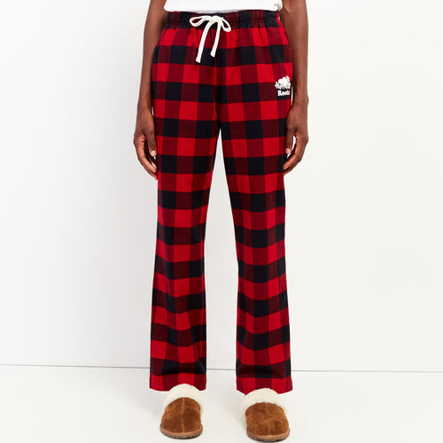 Roots-New For October Plaids-Park Plaid Lounge Pant-Cabin Red-A