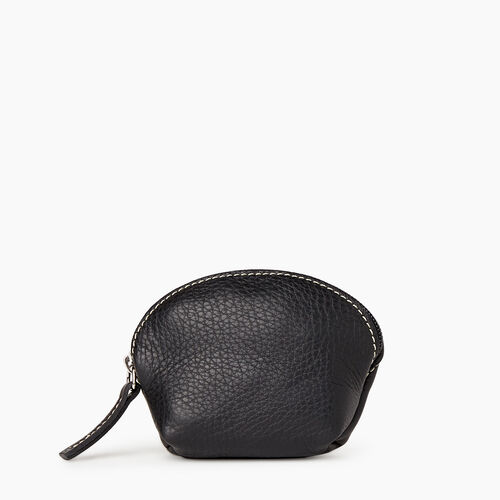 Roots-Leather Leather Accessories-Small Euro Pouch-Black-A