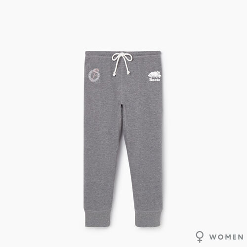 Roots-New For September Roots X Shawn Mendes 2019 Collection-Roots x Shawn Mendes Womens Capri-Medium Grey Mix-A