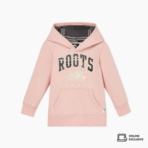 Roots-New For November Kids-Toddler Heritage Plaid Hoody-Pink-A