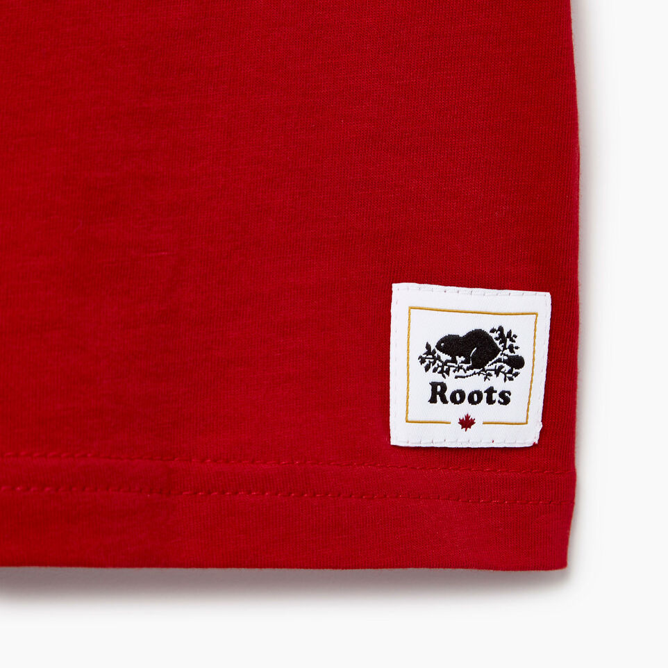 Roots-Kids Our Favourite New Arrivals-Baby Blazon T-shirt-Sage Red-C