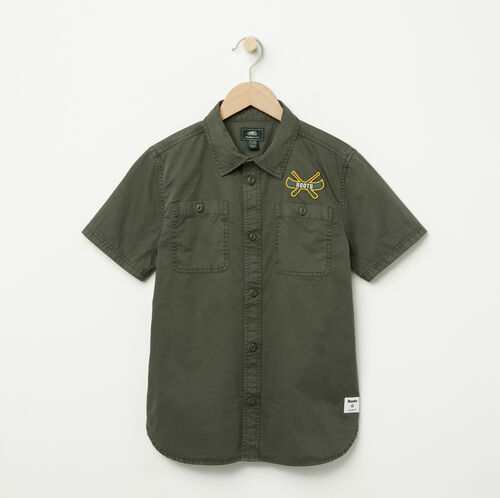 Roots-Sale Boys-Boys Twill Utility Shirt-Climbing Ivy-A