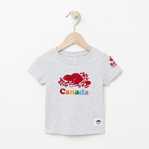 Roots-Kids T-shirts-Baby Canada T-shirt-Snowy Ice Mix-A