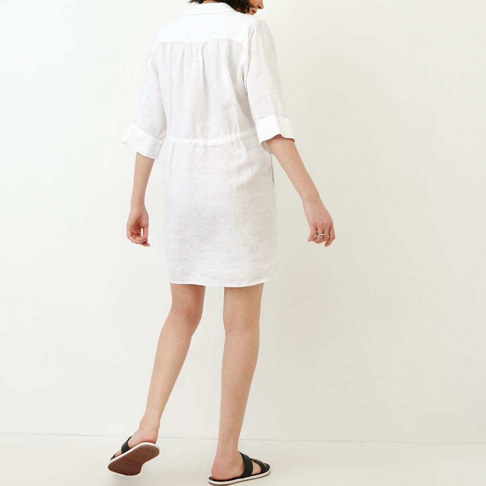Roots-Women Clothing-Weymouth Dress-White-D