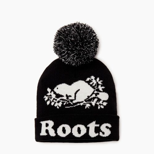 Roots-Clearance Kids-Kids Cooper Glow Toque-Black-A