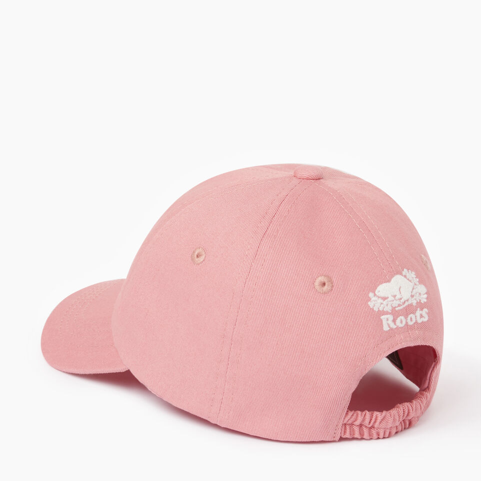 Roots-Clearance Kids-Toddler Canada Baseball Cap-Pink-C