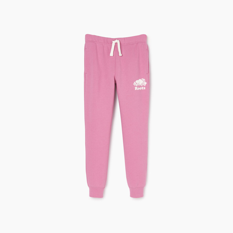 Roots-Kids Our Favourite New Arrivals-Girls Slim Cuff Sweatpant-Mauve Orchid-A