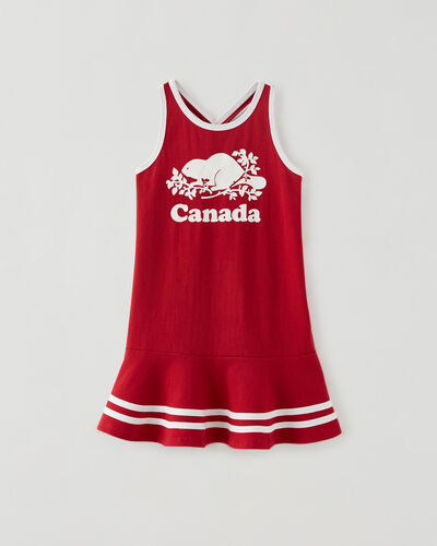 Roots-Sweats Toddler Girls-Toddler Canada Tank Dress-Sage Red-A