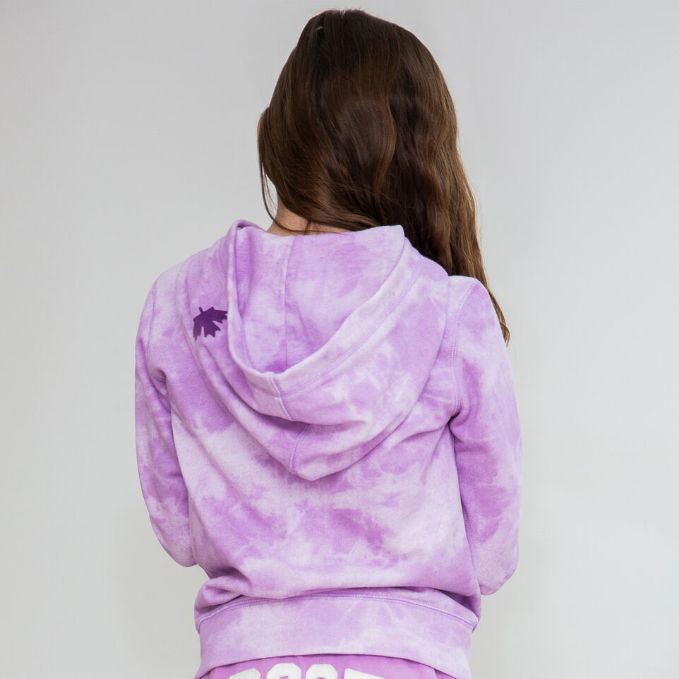 Roots-Kids New Arrivals-Girls Original Full Zip Hoody-African Violet-B