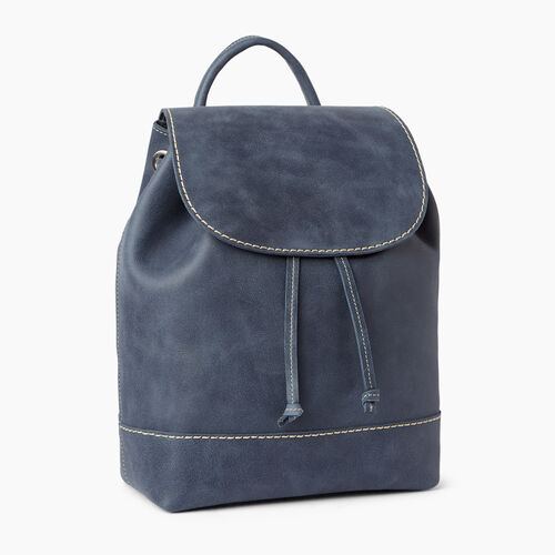 Roots-Leather  Handcrafted By Us Backpacks-Sandbanks Pack-Navy-A