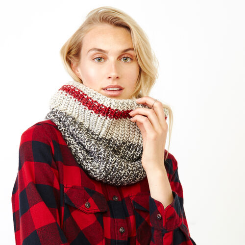 Roots-Women Categories-Chunky Cabin Snood-Grey Oat Mix-A