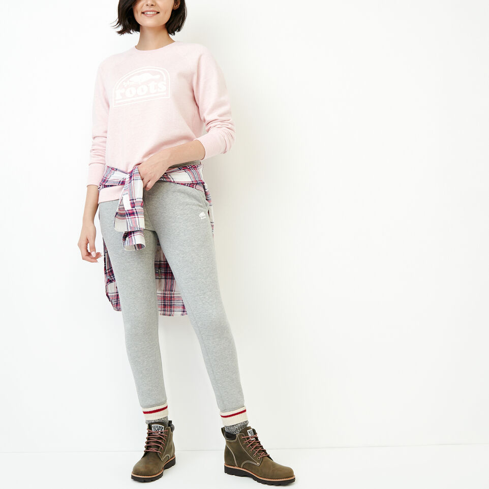 Roots-Women Our Favourite New Arrivals-Vault Relaxed Crew Sweatshirt-English Rose Mix-B