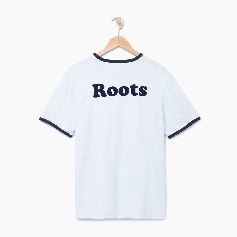 Roots-New For August Men-Mens Roots Cabin Ringer T-shirt-Baby Blue Mix-B