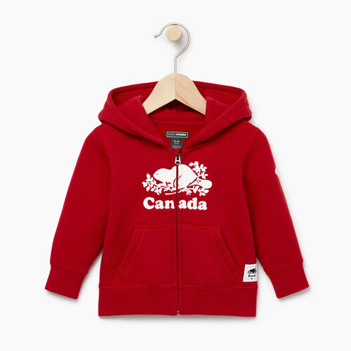 Roots-Kids Categories-Baby Canada Full Zip Hoody-Sage Red-A