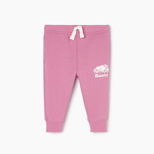 Roots-Kids Our Favourite New Arrivals-Baby Slim Cuff Sweatpant-Mauve Orchid-A