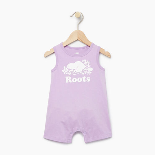 Roots-Kids Baby Girl-Baby Cooper Beaver Romper-Lavendula-A