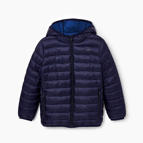 Roots-Kids Outerwear-Boys Roots Puffer Jacket-Navy Blazer-A