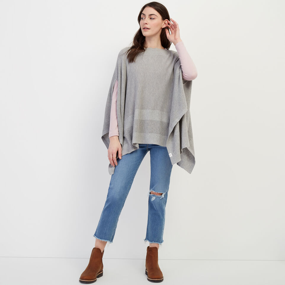Roots-Women Our Favourite New Arrivals-Journey Poncho-Grey Mix-B