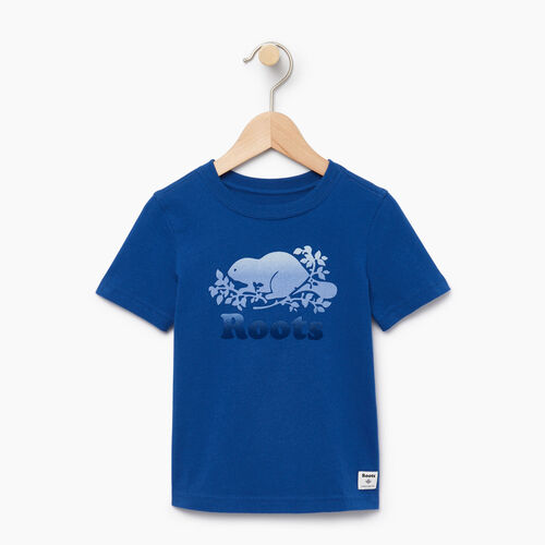 Roots-Kids T-shirts-Toddler Gradient Cooper T-shirt-Active Blue-A