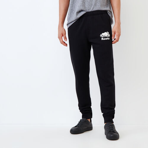 Roots-Men Slim Sweatpants-Park Slim Sweatpant - Tall-Black-A