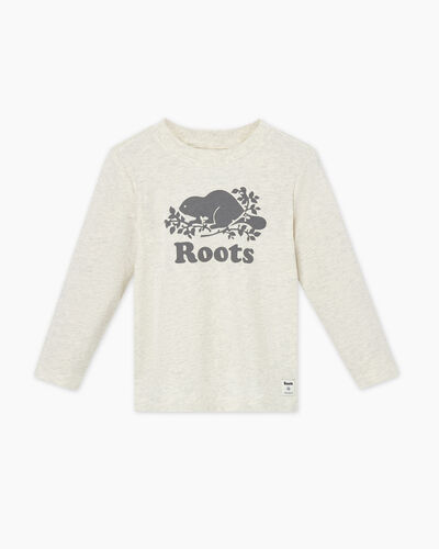 Roots-Sale Toddler-Toddler Original Cooper Beaver T-shirt-White Grey Mix-A
