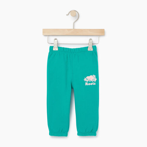 Roots-Kids Our Favourite New Arrivals-Baby Original Roots Sweatpant-Dynasty Turquoise-A