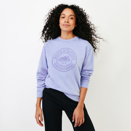 Roots-Women Our Favourite New Arrivals-Department Crew Sweatshirt-Bonita Blue-A