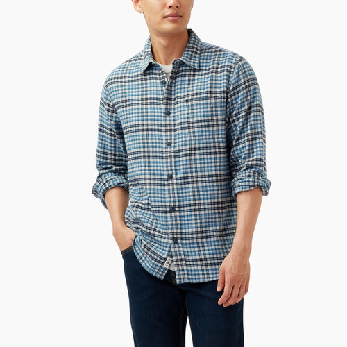 Roots-Winter Sale Tops-Huron Flannel Shirt-Grey Mix-A