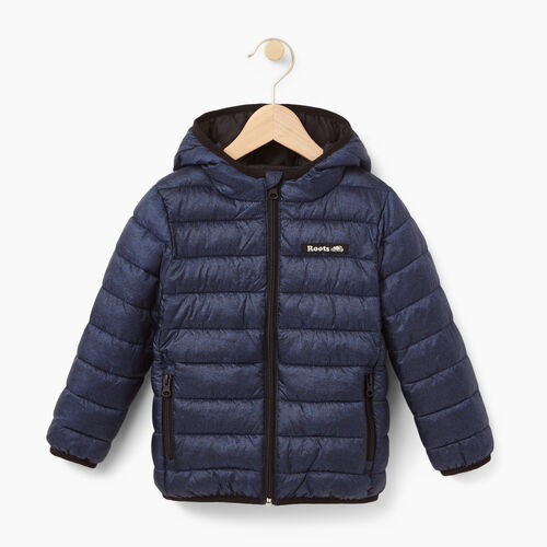 Roots-Winter Sale Kids-Toddler Roots Puffer Jacket-Navy Blazer Pepper-A