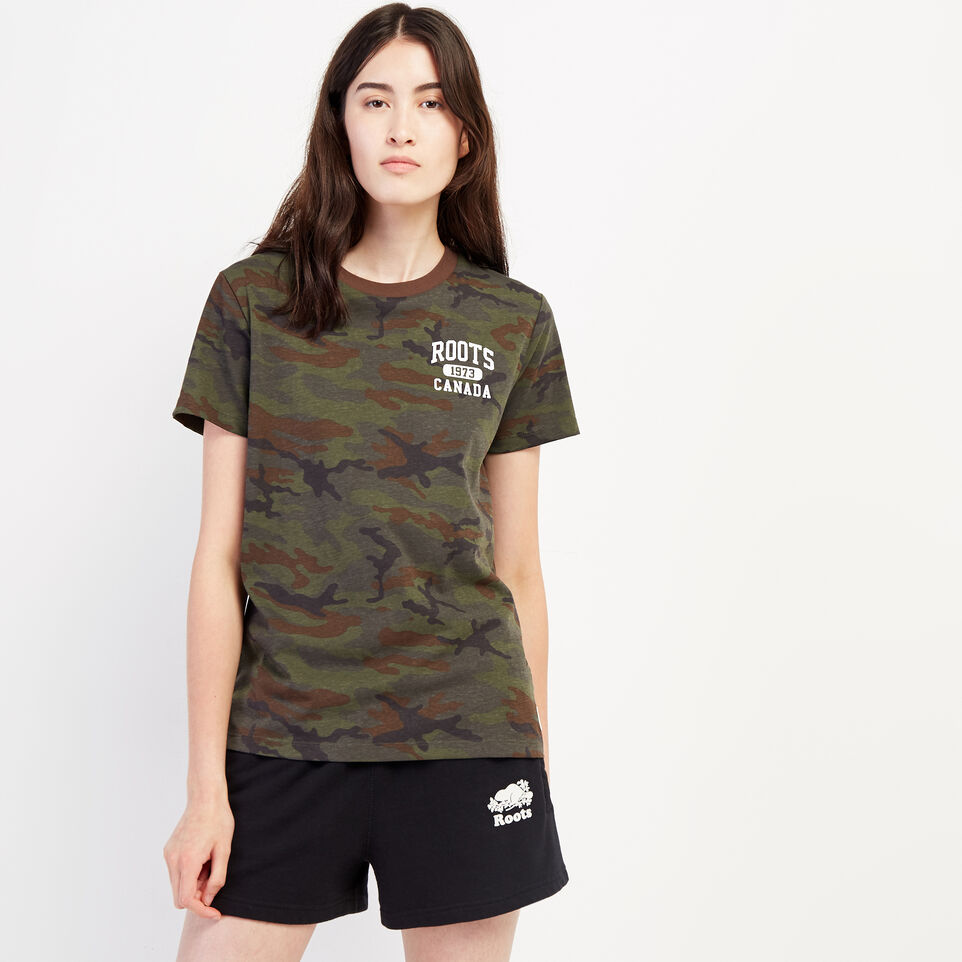 Roots-undefined-Womens Camo Lozenge T-shirt-undefined-A