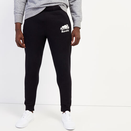 Roots-Men Bottoms-Park Slim Sweatpant - Tall-Black-A