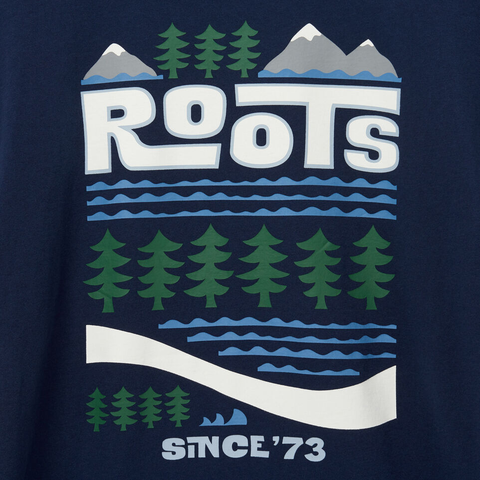 Roots-undefined-T-shirt Pacific Scenery pour hommes-undefined-E