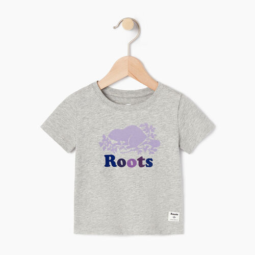 Roots-Kids Our Favourite New Arrivals-Baby Original Cooper Beaver T-shirt-Grey Mix-A