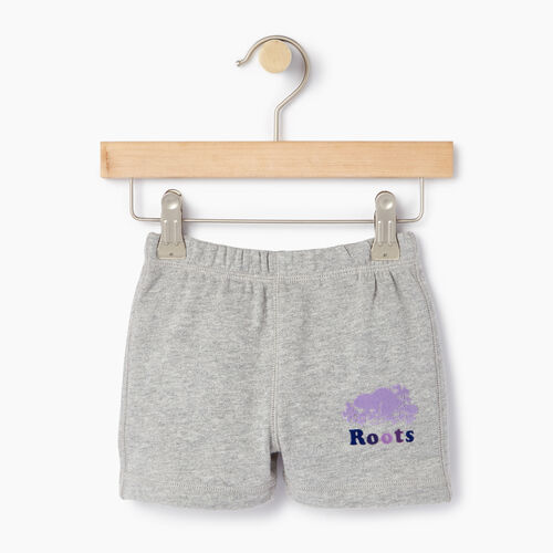 Roots-Kids Categories-Baby Original Roots Short-Grey Mix-A