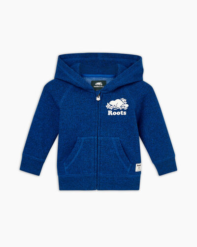 Roots-Sweats Sweatshirts And Hoodies-Baby Original Full Zip Hoody-Classic Blue Pepper-A