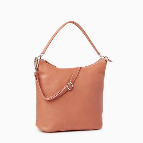 Roots-Leather Shoulder Bags-Ella Bag-Canyon Rose-A