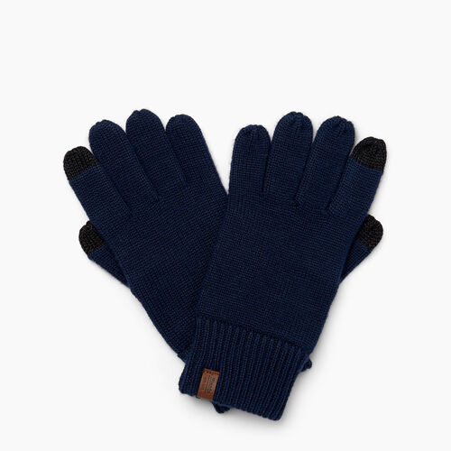 Roots-Men Our Favourite New Arrivals-Wool Texting Glove-Navy-A
