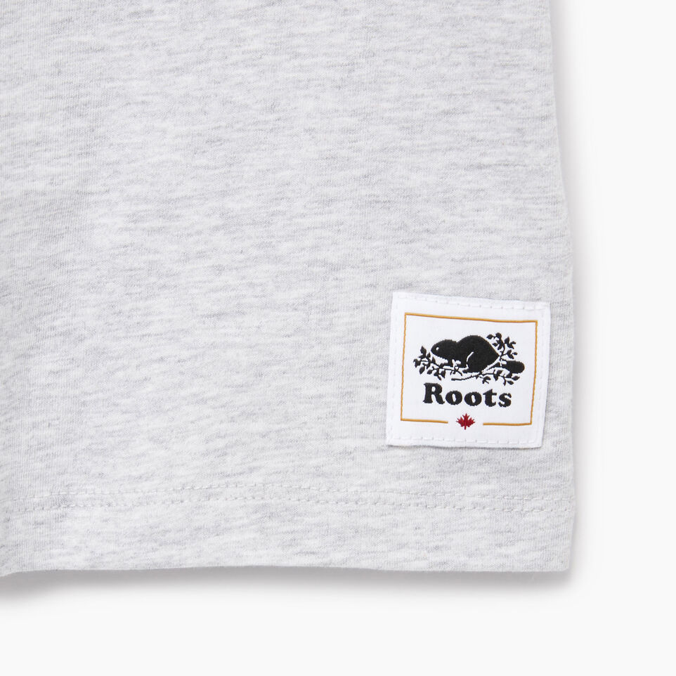 Roots-New For August Kids-Girls Canada T-shirt-Snowy Ice Mix-C