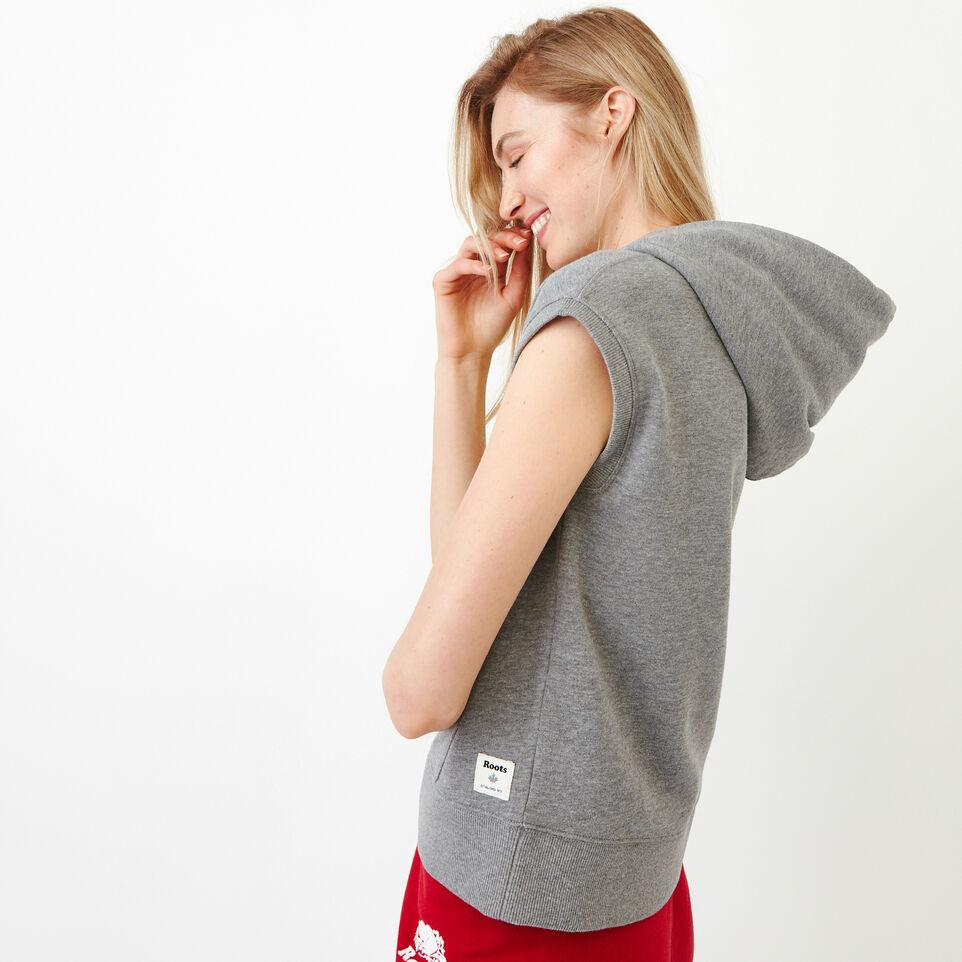 Roots-Women Our Favourite New Arrivals-Tyne Sleeveless Hoody-Medium Grey Mix-C