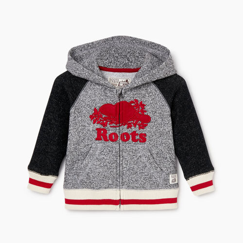 Roots-Kids Our Favourite New Arrivals-Baby Roots Cabin Zip Hoody-Salt & Pepper-A