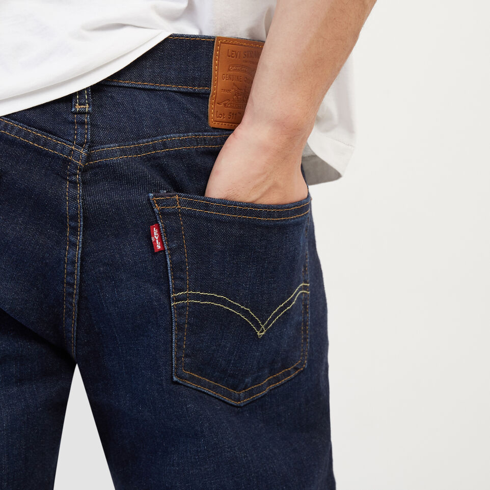 Roots-New For April Levi's-Levi's 511 Slim Fit 34-Denim Blue-E
