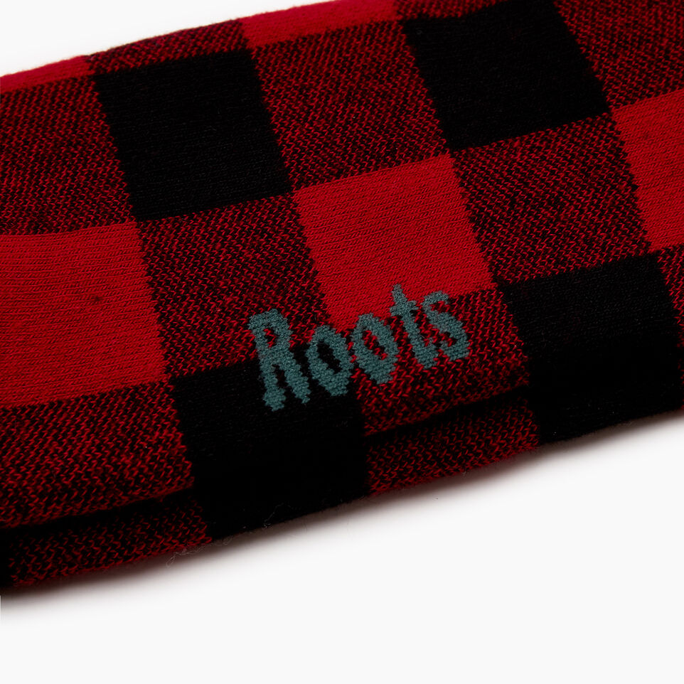 Roots-New For December Today Only: 40% Off Park Plaid Collection-Mens Park Plaid Boot Sock-Red-C