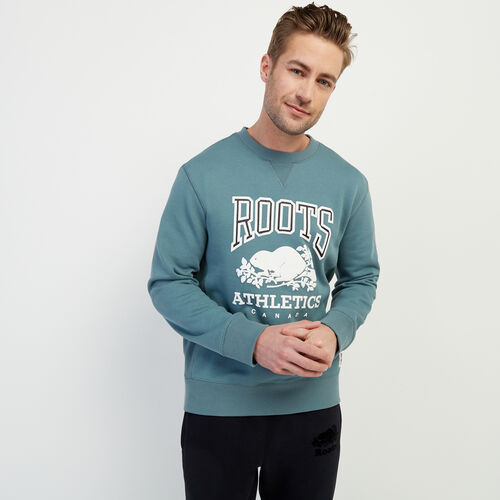 Roots-New For February Rba Collection-RBA Crew Sweatshirt-North Atlantic-A