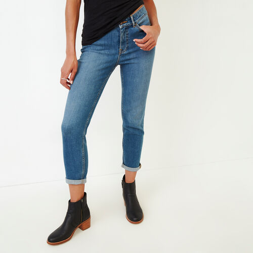 Roots-Women Bottoms-Sedgewick Skinny Jean-Med Denim Blue-A