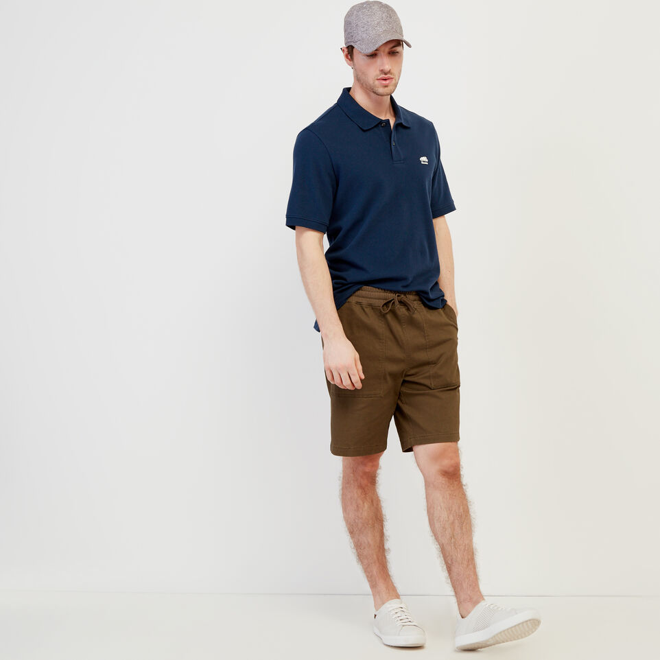 Roots-Men New Arrivals-Heritage Pique Polo-Cascade Blue-B