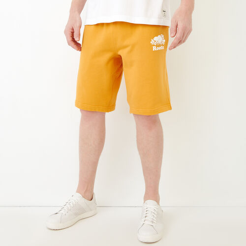 Roots-New For July Men-Original Sweatshort 10.5 In-Squash Yellow-A