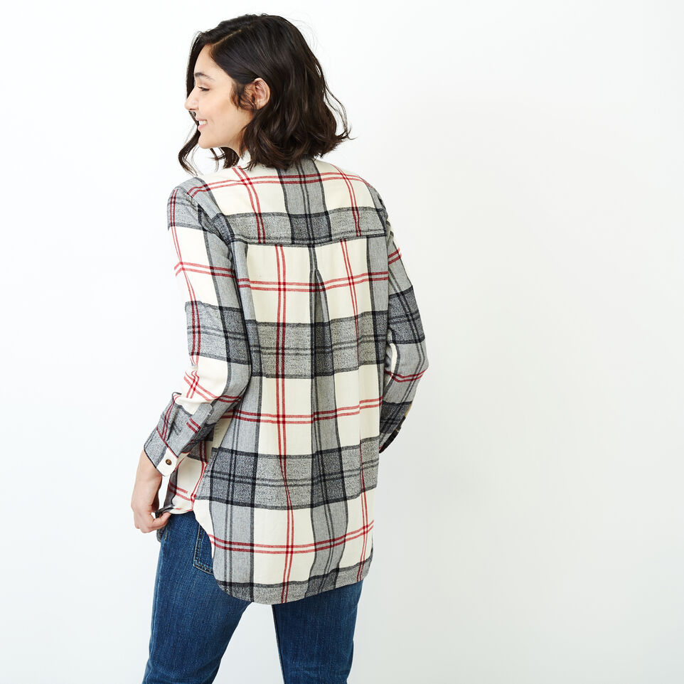 Roots-Women Our Favourite New Arrivals-Smoke Lake Plaid Tunic-Birch White-D